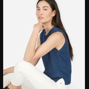 Everlane / Small / The Linen Sweater Tank Top Navy